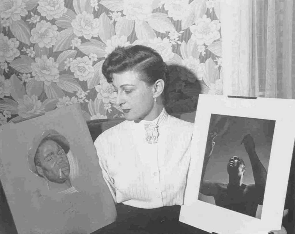 Frances Lee publicity photo for the Canada Lee Foundation, 1952.