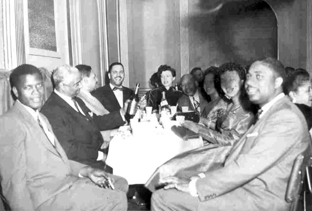 Photo of the original Canada Lee Foundation at a 1954 gathering.